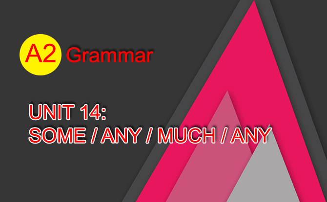 Unit 14: Some / any / much / any | Grammar | A2